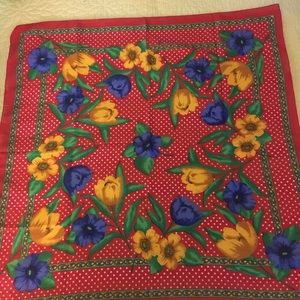 Accessories - Square Floral Scarf